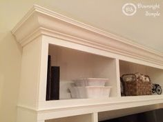 Downright Simple: DIY TV Built In / Wall Unit