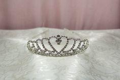 Flower Girl Love Crystal Tiara Crown
