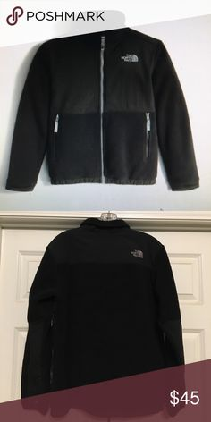 Boys Black North Face Denali jacket Zips up the front black jacket.  Good condition The North Face Jackets & Coats