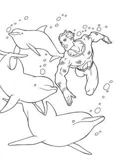 Aquaman coloring page 1  Aquaman coloring book  Pinterest