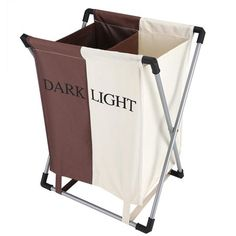 Folding Laundry Washing Basket Bag 2 Section Foldable Fabric Laundry Hamper Sorter for Bedroom Bathroom and Laundry Room Storage Bags For Clothes, Clothes Basket, Bag Storage, Hamper Basket, Basket Bag, Laundry Sorter Hamper, Laundry Bin, Folding Laundry Basket, Washing Baskets