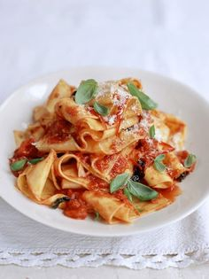 Sauce Recipes, Pasta Recipes, Cooking Recipes, Recipes With Homemade Pasta, Homemade Sauce, Pappardelle Recipe, Parpadelle Pasta Recipe, Tagliatelle Pasta, Penne