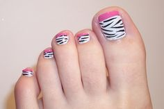 Nail Designs Of 2015 Fresh toe Nail Designs 2015 Yve Style Simple Toe Nails, Cute Gel Nails, Summer Toe Nails, Cute Nail Art, Classy Nails, Nail Designs 2015, Toe Nail Designs, Zebra Nails, Pink Nails