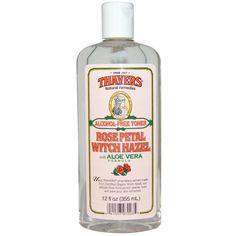Thayers, Rose Petal Witch Hazel, with Aloe Vera Formula, Alcohol-Free Toner, 12 fl oz (355 ml)