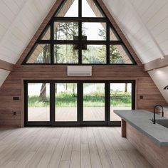 Ayfraym: Modern, Portable A-Frame Cabin Version of Classic Vacation Home in The A Frame Cabin Plans, A Frame Floor Plans, Tiny Cabin Plans, Cabin House Plans, Tiny House Cabin, Diy Cabin, Cabin Design, Diy Design, Wood House Design