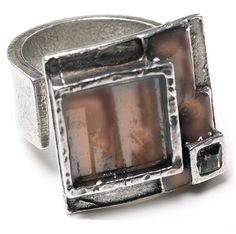 #Pewter #ring. The ring size is #adjustable. One fits all.  #Handmade #jewellery by #NES, Montreal. - $49.00 #Onesize
