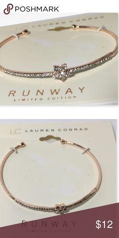 Lauren Conrad bangle rose goldtone rhinestone Lauren Conrad bangle rose gold tone rhinestone.  From her runway collection LC Lauren Conrad Jewelry Bracelets
