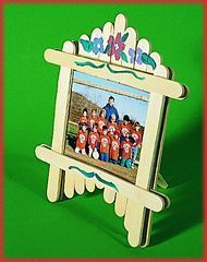 Ice-cream stick photo frame