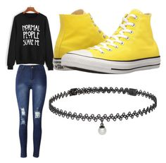 """""""roupa para escola"""" by myllenac-s on Polyvore featuring art"""