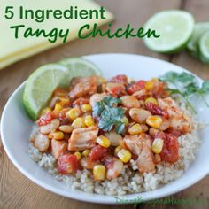 5 Ingredient Tangy Chicken - 5 ingredients and 20 minutes are all you need to make this flavorful, healthy family meal!