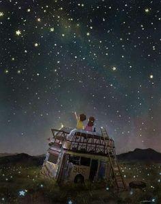 Ve milyonlarca yıldız tozunun ortasında seninle karşılaştım...
