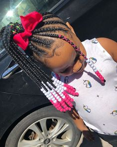 Little Girls Natural Hairstyles, Lil Girl Hairstyles, Black Girl Braided Hairstyles, Black Kids Hairstyles, My Hairstyle, Toddler Hairstyles, Little Girl Braids, Braids For Kids, Girls Braids
