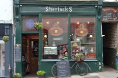Scone Spy: It's all elementary at Sherlock's Coffee House, Whitby - Sunday Post Fish And Chip Shop, Cream Tea, Front Rooms, Shop Fronts, Mini Marshmallows, Fish And Chips, Baker Street, Home Recipes, Scones