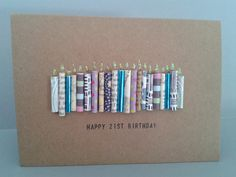 Happy 21st Birthday Candle Card Personalised 21 Today by GurdGifts, £3.90