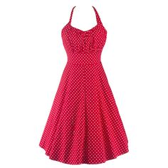 Nice Womens Summer Dresses 2017 Summer Bodycon Red Harness Polka Dot Vintage Dress 2017-2018 Check more at http://fashion-look.top/product/womens-summer-dresses-2017-summer-bodycon-red-harness-polka-dot-vintage-dress-2017-2018/