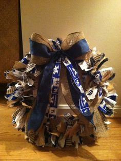 LOVE LOVE LOVE... University of Kentucky Wildcat Wreath   Would make a great gift...but not for my door... :)  MINE WOULD BE ALL RED AND BLACK FOR THE 2013 NCAA BASKETBALL CHAMPIONS AND 2013 SUGAR BOWL CHAMPIONS!  :) lol