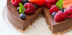 This delicious, easy-to-make, sugar-free baked chocolate cheesecake from Carolyn Hartz's Sugar Free Baking cookbook is a decadent treat everyone can enjoy.
