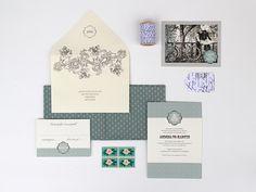 Magnolia Rouge: Mix & Match Invitation Series {Colour: Seafoam} by Ruby & Willow #weddinginvitations #invitations #stationery
