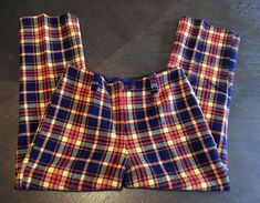 3919701165 Miss Holly Vintage Retro 60s 70s Women's Plaid Pants Size 16 #fashion  #clothing #