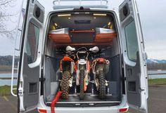Our Vans - Custom Sprinter Camping Van, Toy Hauler, 4x4 Vans