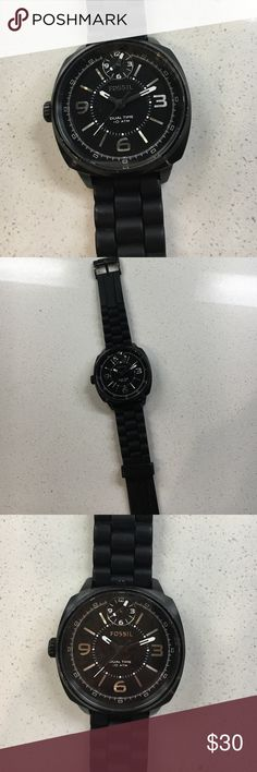 Mens Fossil Watch Fossil watch - strap in good condition, scratches on face and back of face. Fossil Accessories Watches