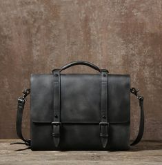Leather Briefcase, Handmade Leather Business Bag, Leisure Bag GLT045
