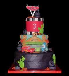 """Use Cricut Cake & """"Cars"""" cartridge - Cody & Nathaniel would LOVE this! - Amber"""