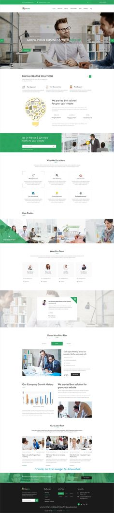 Seobiz is clean and modern design PSD template for #SEO and #marketing agency website with 12 layered PSD pages to download click on image.