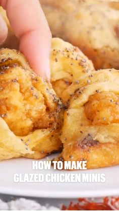 Yummy Appetizers, Appetizer Recipes, Dinner Recipes, Plain Chicken Recipe, Chicken Recipes, Glazed Chicken, Maple Chicken, Chicken Minis, Good Food