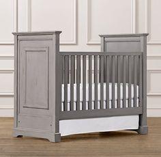 Grey crib...perfect for boy or girl!
