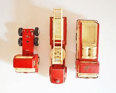 Vintage Collection of 3 Red Tonka & by TheVintageRoad2Retro