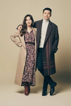 Hyun Bin and Son Yejin Overflowed with Their Chemistry in New Pictorials That You Might Mistake Them as a Real Couple (+ Photos) Korean Actresses, Korean Actors, Actors & Actresses, Hyun Bin, Kpop, Song Joong, Korean Shows, Korean Wedding, Korean Drama Movies