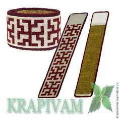 """Крапивный браслет со славянской символикой """"Зайчик"""" - бордовый,крапивные изделия"""