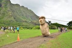 The mysterious moai statues at Easter Island are ancient remnants of a great past. Easter Island Statues, Wooden Canoe, Destinations, Mystique, Image House, Trees To Plant, National Parks, Around The Worlds, Places
