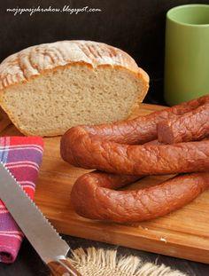 my passions: rural home smoked sausage Homemade Sausage Recipes, Hot Dog Recipes, Meat Recipes, Cooking Recipes, Chorizo, Home Made Sausage, Ukrainian Christmas, How To Make Sausage, Making Sausage