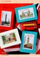6 London Postcard Cross Stitch Charts pages) Cross Stitch Cards, Cross Stitching, Cross Stitch Embroidery, Cross Stitch Patterns, London Postcard, Stitch Shop, Blackbird Designs, E 38, Minis