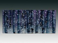 """Snowy Snowy Night"" A fused by Pezzulich Glassworks"