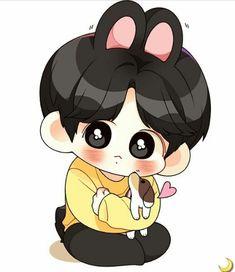 Jungkook Fanart, Vkook Fanart, Bts Jungkook, Bts Drawings, Bts Chibi, Bts Fans, Tumblr Boys, Kpop, Bts Wallpaper