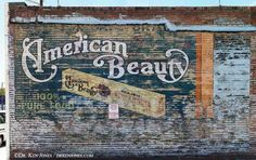 Ghost advertising = when ads were painted onto the side of a building
