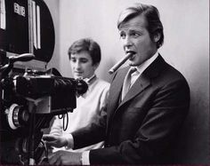 Roger Moore directing his daughter in the episode of The Persuaders called The Long Goodbye.