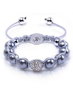 Another great find on #zulily! Gray Winter Twilight Kikiballa Bracelet with Crystals from SWAROVSKI by Joseph Nogucci #zulilyfinds