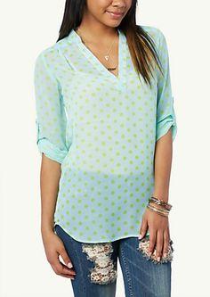 image of Printed Mandarin Collar Tunic