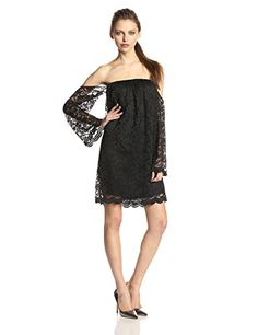 26ebaee07425 Tbags Los Angeles Women s Lace Off-The-Shoulder Shift Dress
