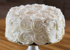 How To Make a Rose Cake--Check out the step by step tutorial here and prepare to be amazed by how EASY it is!  Link to tutorial included:  http://iambaker.net/rose-cake-tutorial/