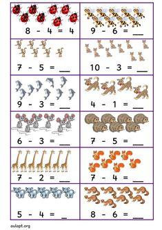 15 Adet Çok Seveceğiniz Çıkarma İşlemi | Meryem Öğretmenin Okul Öncesi Etkinlikleri Numbers Preschool, Preschool Math, Kindergarten Worksheets, Teaching Math, Math Addition Worksheets, Math Practice Worksheets, First Grade Math Worksheets, Kids Sunday School Lessons, Math Subtraction