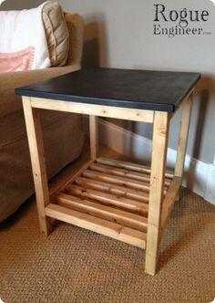 DIY Pottery Barn End Table | Free Plans  | rogueengineer.com #PotteryBarnEndTable