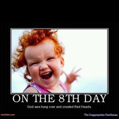 Have lots of ginger babies - I know I can't control this, so I'd settle for at least one. Ginger Kids, Ginger Babies, Beautiful Smile, Beautiful Children, Beautiful People, Amazing People, Beautiful Babies, Redhead Quotes, Redhead Funny