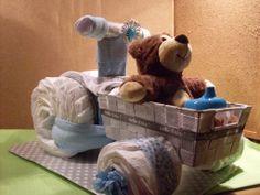 DIAPER CAKE / LUIERTAART    BAKFIETS  babyshowerorganisatie@hotmail.com