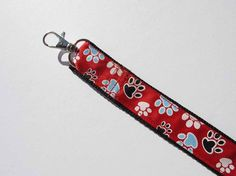 Red Paws Dog Leash by CookiesDogHouse on Etsy