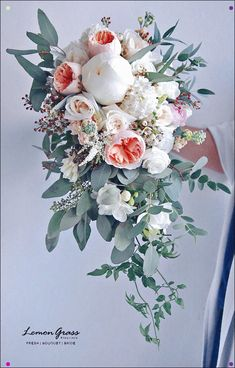 waterfall bouquet wedding flowers - Page 21 of 101 - Wedding Flowers & Bouquet Ideas Rustic Bridal Bouquets, Cascading Wedding Bouquets, Peony Bouquet Wedding, Cascade Bouquet, Bridal Flowers, Bride Bouquets, Boquet, Wedding Flower Design, Floral Wedding